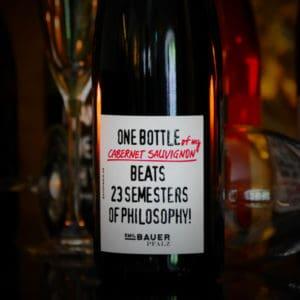 Weinflasche Cabernet Sauvignon Philosophy von Emil Bauer
