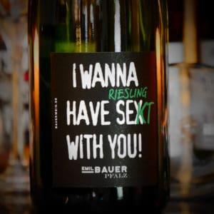 Sektflasche I wanna have Riesling Sekt with you von Emil Bauer